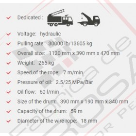 Troliu hidraulic heavy-duty DWHI 300 HD