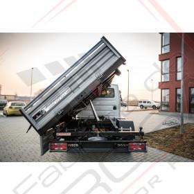 Iveco 4000x2100x400 mm – 2,6 mc Daily 35C - ampatament 3750 mm KIT bena basculabila hidraulic cu obloane de aluminiu