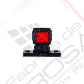 Outline marker light, square with a short, straight arm (white+red) right