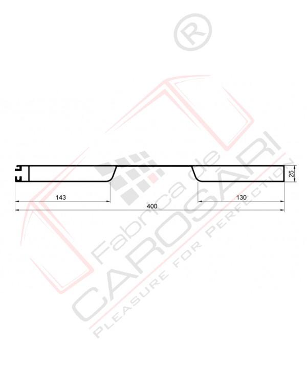 Profil oblon aluminiu 400 anodizat