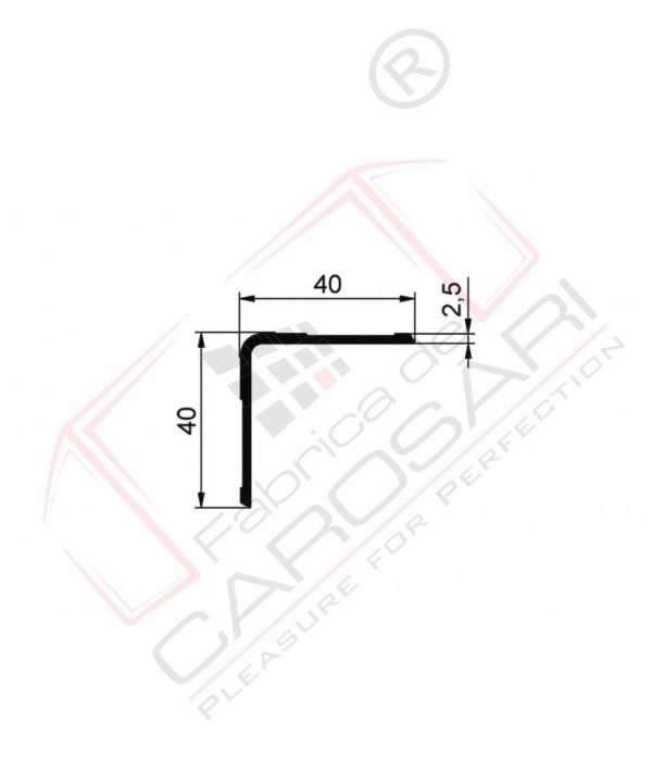 Profil L inside 40x40 Al