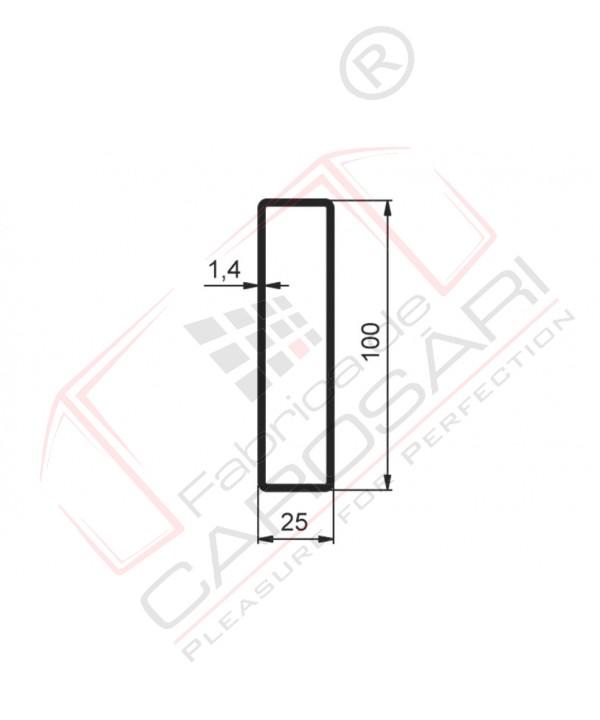Tarpaulin profile 100x25