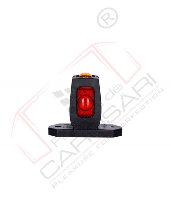 Corner marker light(red orange white), short arm, with 3 LED HOR 53, 12/24v, 0.2/0.4w, 2x0.75mm, 0.45m front, rear, side ,marking