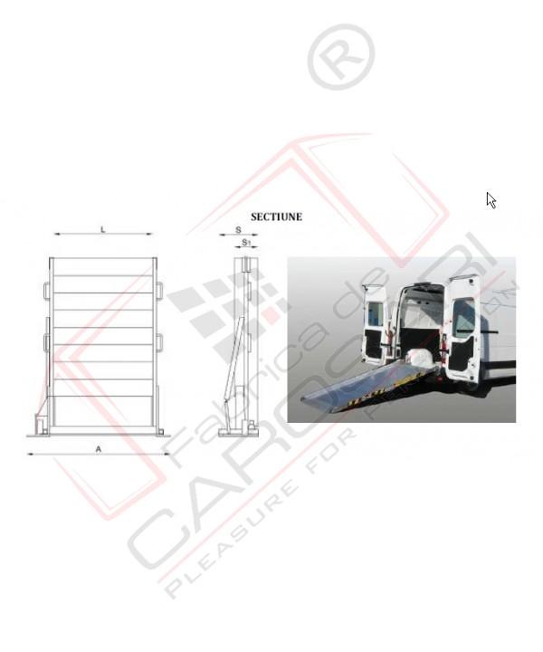 Aluminium ramps for VANs   L 2,5 - l 1,2 m