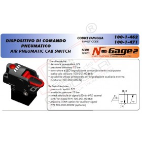 Comanda pneumatica 1 cale N Gage cu suport ,racorduri si 10mtl furtun aer