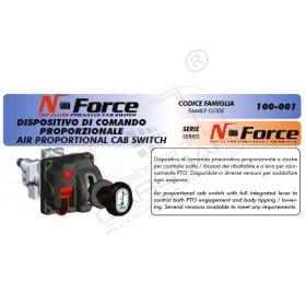 """Comanda pneumatica 2 cai profesionala """"N-Force"""" din cabina cu sistem de siguranta al pompei, utilizata la sistemele de basculare standard comercializate"""