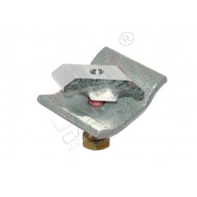 Clamp for frame with steel counter-part