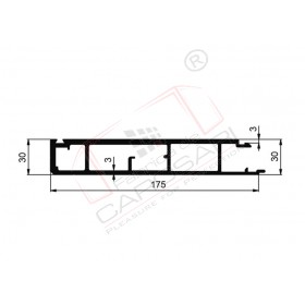 Profile of tipper, lower, 30x175mm