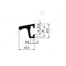 Frame profile 33x37mm Aluminium