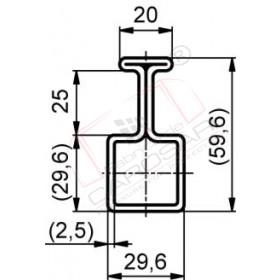 Guiding profile Edscha 72,95,steel,zinc