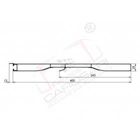 sideboard profile 400mm with hook, anod
