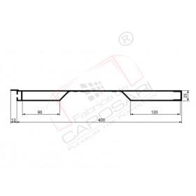 Sideboard profil 400 mm, anodised