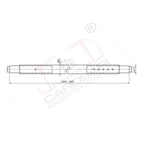 Galv.round shoring bar range 2-2,4mm