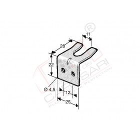 Bonnet holder - counterpart, Zn