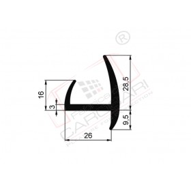 Rubber seal 24x38 mm