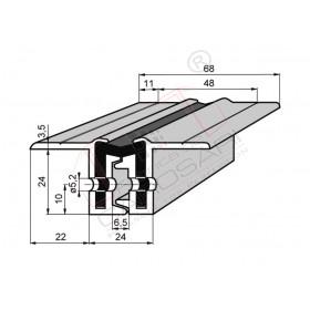Continuous hinge 24x22/180ř 2400 mm