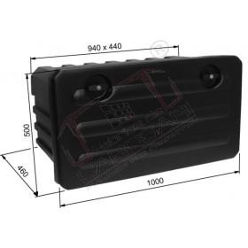 Box, 1000x500x460mm no holders