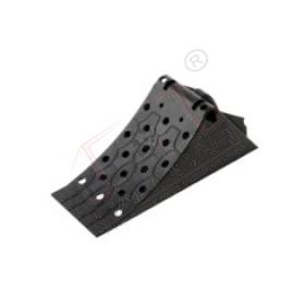 Homologated plastic chock new BLACK