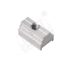 Threaded plate, AL 29mm