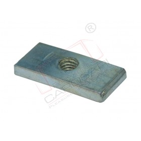 Threaded plate, 40x18, zinc plated, BZ