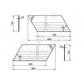 Doorstop 600 x 130 mm