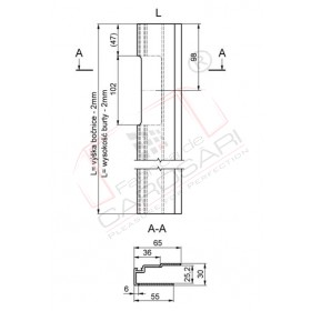 edge profile-open for sealing 800L,anod