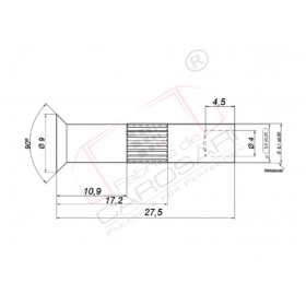Pin for bearing of cart C-T