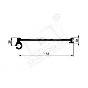 Pillar profile C-T, aluminium, 4800 mm