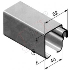 Profil 52x50, steel, 5100mm