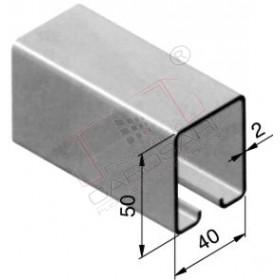Guide-rail profile50x40 mm, 7800 mm