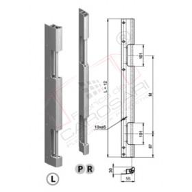 Rear door hinge 600 mm, joint, R anod.