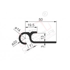 Profile for curtain tensioning 2550mm