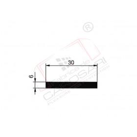 Flat rod 30x6, AlMgSi0.5