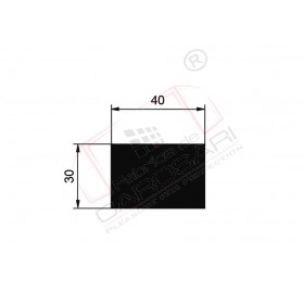 Rectangle Rod 40x30 mm