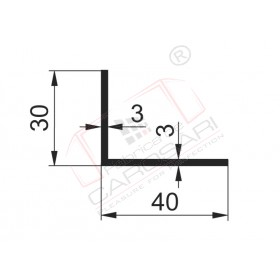Profil in L 40x30x3mm