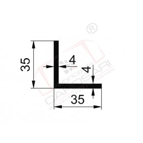 Profil L 35x35x4mm