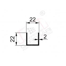 Profil U 22x22x2mm