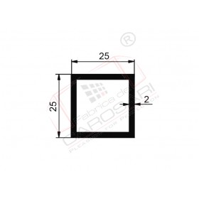 Square tube 25x25x2mm