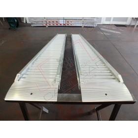 Aluminium ramps with border 2 to - 4 m