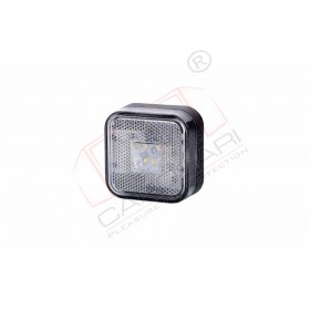 4 LED Marker light HOR 24 with reflective device, square (white), 12/24V, power 0,5/1W, cable 2