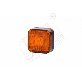 4 LED Marker light HOR 24 with reflective device, square (orange), 12/24V, power 0,5/1W, cable 2