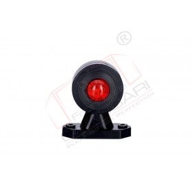 Outline marker light oval, with short, straight arm (white+red)