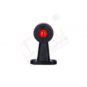 Outline marker light oval, with long, straight arm (white+red)