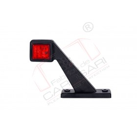 Outline marker light, square with a short arm (white+red) right