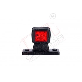 Marker light (white+red), short, straight arm with 6 LED HOR 44, 12/24v, 0.5/1w, 2x0.35mm, 0.4m right