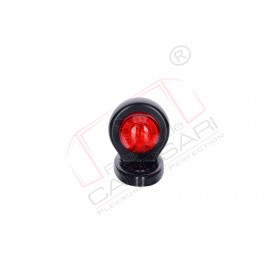 Marker light with an oval base (white+red)