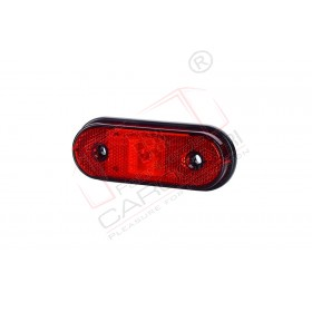 Rear marker light (red), with reflective device