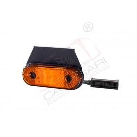 Side marker light (orange), with reflective device and a holder