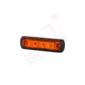 Side marker light with a rubber pad, for bull-bar mounting