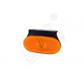Side marker light with a holder (orange)